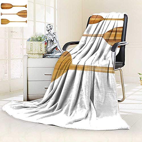Blades White Navajo - YOYI-HOME Throw Duplex Printed Blanket Three Traditional Wooden Canoe Paddles with Different Shape of Blades Isolated on White Microfiber All Season Blanket for Bed or Couch/59 W by 86.5