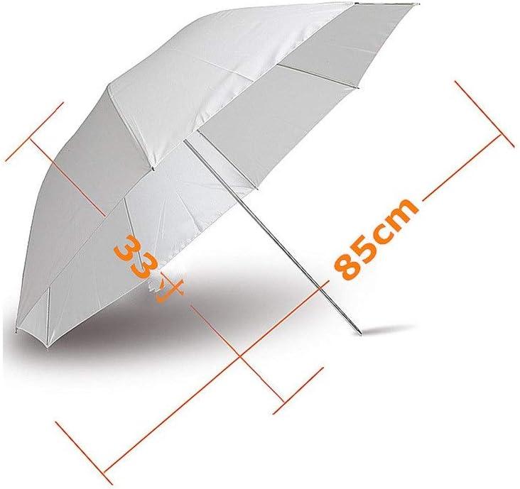 Color : As Shown, Size : Free MAODATOU Photographic Reflector Translucent White Soft Umbrella Professional Photography Studio Flash Studio Lighting Reflective Flash Soft Umbrella