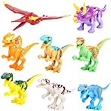 Dinosaur Rex Tyrannosaurus Jurassic World 8/Pcs Minifigures Building Bricks Toy