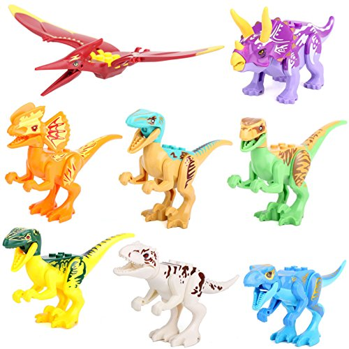 dinosaur-rex-tyrannosaurus-jurassic-world-8-pcs-minifigures-building-bricks-toy