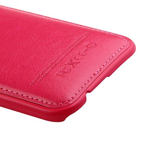 Apple iPhone 4S Hülle en Cuir,iPhone 4 Silikon Bumper Case,Ekakashop Fashion Rose Rot Flexible Hybrid TPU Silikon Defender Protective Rabat Shell Couvercle Housse Schutzhülle Ledertasche Klapptasche E
