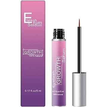 ESFORT-Natural-Eyelash-Growth-Serum, Lash Serum for Eyelash and Eyebrow Eyelash Enhancer Made of Natural Ingredients for Thick, Fluttery Lashes 5ml