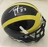 Ty Law Autographed Michigan Wolverines Signed Football Mini Helmet JSA COA