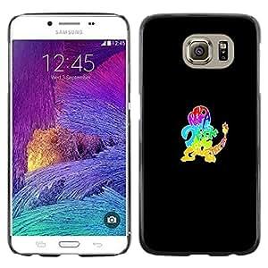 Caucho caso de Shell duro de la cubierta de accesorios de protección BY RAYDREAMMM - Samsung Galaxy S6 - P0kemon Diseño de la tipografía