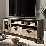 Baxton Studio Cardiff 55 Wood TV Stand in Distressed Oak