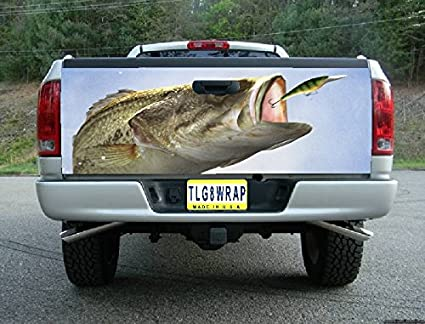 Amazon com: Avery T01 BASS FISHING FISH FISHERMAN Tailgate Wrap