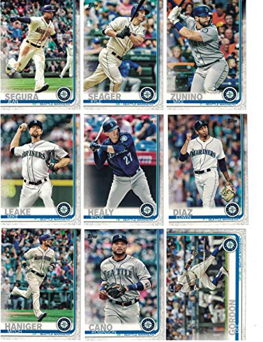 Seattle Mariners/Complete 2019 Topps Series 1 Baseball Team Set! (14 Cards) Includes 25 bonus Mariners Cards!