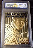 MICKEY MANTLE SIGNATURED WCG GEM-MT 10 23KT GOLD CARD! PINSTRIPES 3X MVP!