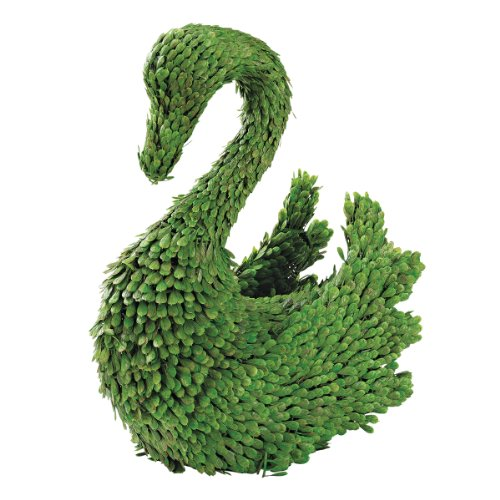 European Style Sculptural Swan Rabbit Topiary
