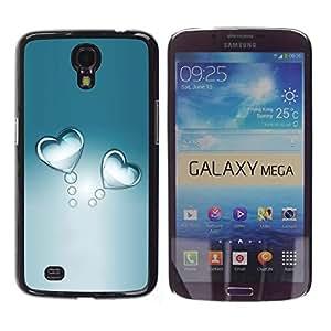 FECELL CITY // Duro Aluminio Pegatina PC Caso decorativo Funda Carcasa de Protección para Samsung Galaxy Mega 6.3 I9200 SGH-i527 // Gray Water Glass Refractive