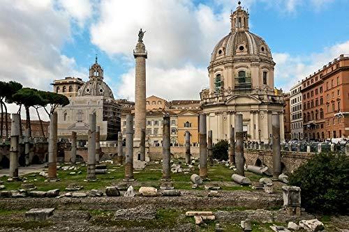 (Peel-n-Stick Poster of Italy Column of Trajan Rome The Forum of Trajan Vivid Imagery Poster 24 x 16 Adhesive Sticker Poster Print)