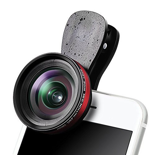 Iphone Lens Kit Camera Accessory – Luxsure Universal HD 140°Super Wide Angle Lens + 15x Macro Lens, Mobile Phone lens Clip-on, For iPhone 7/6/5/4, Android/Samsung & Most Smartphones (Black) by LUXSURE