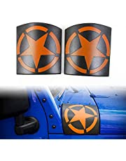 JeCar Black Cowl Body Armor Outer Cowling Cover for Jeep Wrangler Rubicon Sahara Jk Unlimited 2007 2008 2009 2010 2011 2012 2013 2014 2015 2016 2017-1 Pair