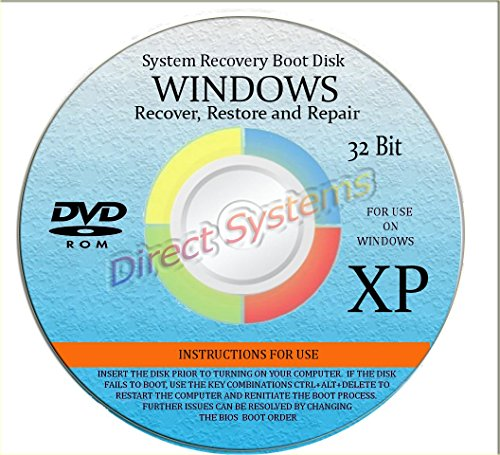 BOOT DISK for RESTORE & RECOVERY for WINDOWS XP 32 bit (Laptop Disk Hp For Boot)