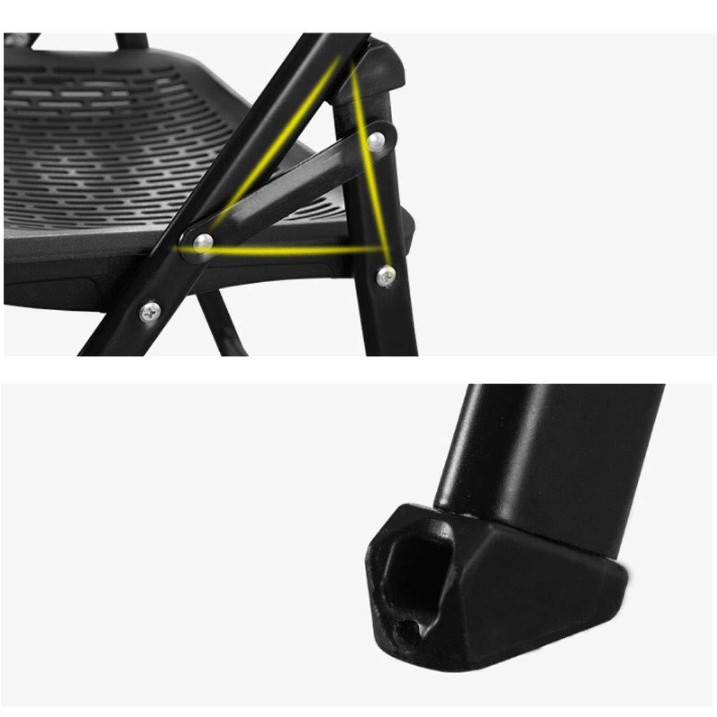 Haoli-chairs Klappstuhl Camping, Kunststoff gepolstert Esszimmerstuhl mit Metallrahmen Metallrahmen Metallrahmen Faltbare Stühle (Farbe : grau) 4058a3