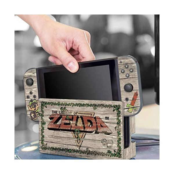 Controller Gear Officially Licensed Nintendo Switch Skin & Screen Protector Set - The Legend of Zelda - Retro Woodgrain… 6