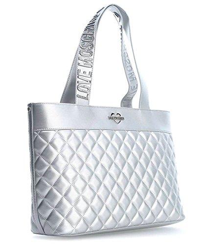 De Italia Precio Bajo El Envío Libre Love Moschino Metallic Quilted Borsa tote argento metallico Venta Barata Recomienda BPBcP