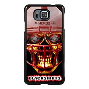 Fashionable Samsung Galaxy Alpha Case ,Unique Designed With Ncaa Big Ten Conference Football Nebraska Cornhuskers 14 black Samsung Galaxy Alpha Cover High Quality Phone Case