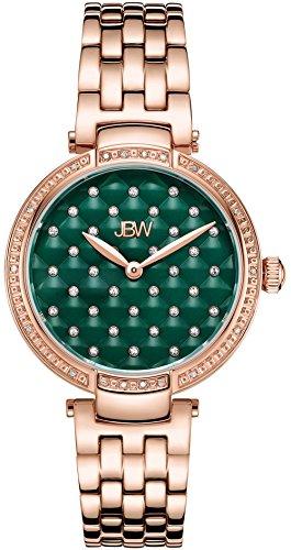 JBW Women's Gala .18 ctw Diamond 18K Rose Gold-Plated Stainless Steel Watch (Rose Gold Plated Diamond Watch)