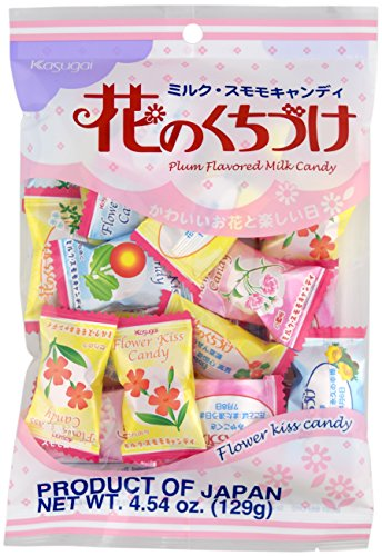 Kasugai Japanese Candy, Hana No Kuchizuke Flower Kiss, 5.1-Ounce Bags (Pack of (Hard Candy Kiss)