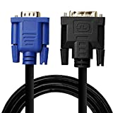DVI 24+5 to VGA High Resolution Male Monitor cable with RGB Coax - (DVI-A M to HD15 M) 10-ft