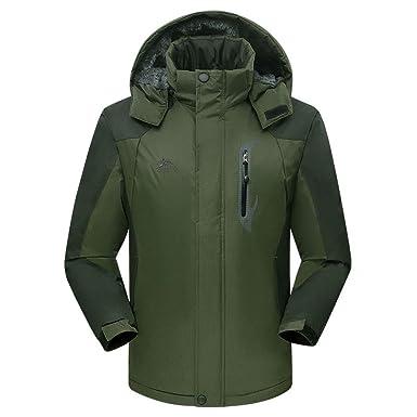 84d3aef2403 LisYOU F Jackets Men Outdoor Sports Hooded Waterproof Windbreak Rain Coat  Ski Mountain Climbing(Medium