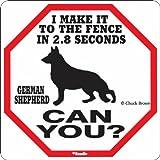 German Shepherd 2.8 Seconds Sign