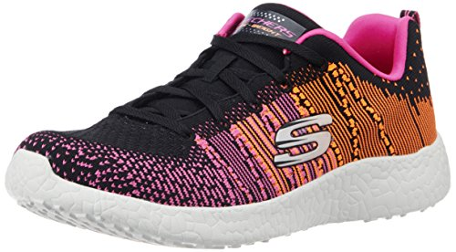 Skechers Sport Womens Burst Ellipse Fashion Sneaker Nero / Rosa / Arancio