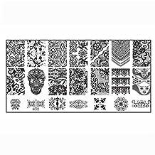 Nail Art Plates, ABC 1PCS Nail Stamp Image Stamping Plate Print DIY Nail Art Template (B)