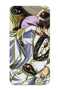 New Style Trolleyscribe Code Geass Kururugi Suzaku Lamperouge Lelouch Anime Premium Tpu Cover Case For Iphone 4/4s