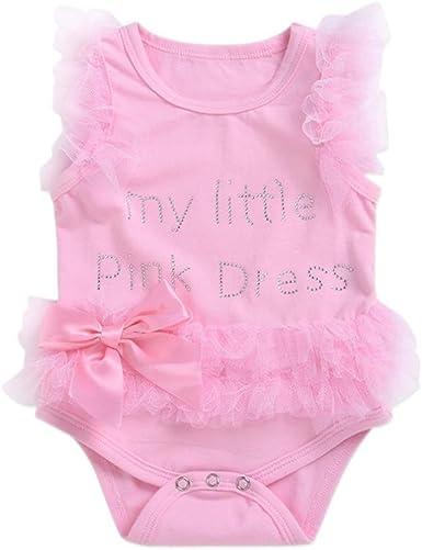 Baby Girl Newborn Toddler Princess Tutu Bodysuit Jumpsuit Playsuit Romper Dress