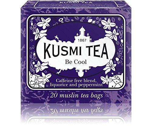 Kusmi Tea - Double Cool - Natural Herbal Tea Blend Including Herbs, Peppermint, Liquorice & Apple - All Natural, Premium Loose-Leaf Herbal Tea in 20 Eco-Friendly Muslin Tea Bags (20 Servings)