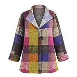 Women's Colorblock Fleece Fashion Jacket - Single Button - 3/4 Sleeves - Large