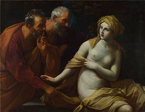Oil Painting 'Guido Reni Susannah And The Elders', 10 x 13 inch / 25 x 33 cm , on High Definition HD canvas prints is for Gifts And Garage, Gym And Home Office Decoration, onreviews