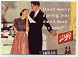 Schlitz metal counter display Beer sign - funny