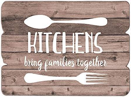 Amazon Com Mode Home Farmhouse Kitchen Wall Decor Wood Wall Art Kitchen Sign Wood Signs Kitchen Decor Kitchen Art Kitchens Bring Families Together Home Kitchen