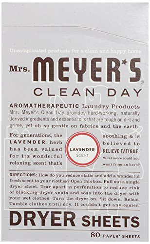 Mrs. Meyer's Clean Day Dryer Sheets, Lavender Scent, 80 count by Mrs. Meyer's Clean Day