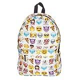 Cevinee™ Multi-room lovely Emoji Daily backpack, Cute Smile Face Kids' Schoolbag - White
