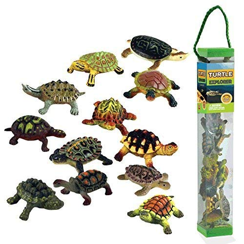 (WowToyz Animal Explorer - Turtles Tube Playset - 12 Piece)
