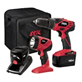 SKIL 2888-02 18V Cordless Drill/Driver and Flashlight Kit