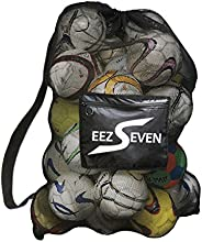 Heavy Duty Extra Large Ball Mesh Bag Soccer Ball Bag Equipment Bag For Sports Beach and Swimming Gears. Adjust