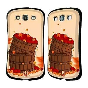 Head Case Designs Basket of Apples Autumn Hybrid Gel Back Case for Samsung Galaxy S3 III I9300