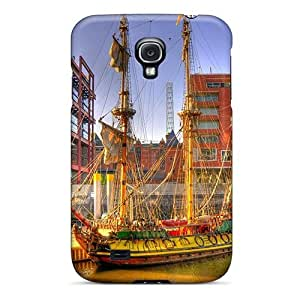 High Quality DustinHVance Fabulous Ancient Sail Ship In Modern City Hdr Skin Case Cover Specially Designed For Galaxy - S4