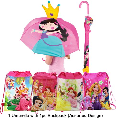 Princess Umbrella Pink Backpack Gift