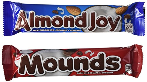 Almond Joy and Mounds 24 bar Variety Pack (2-Pound ()