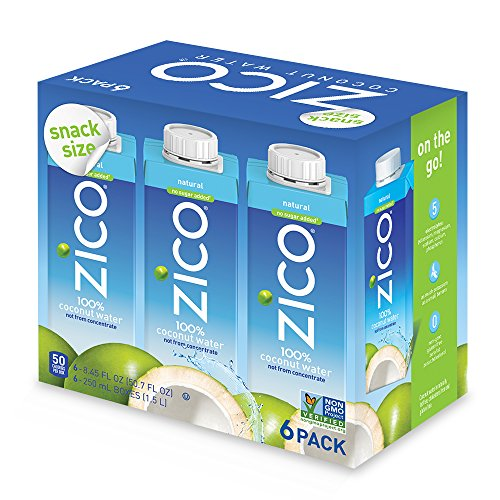 Zico Natural Coconut Water (Pack of 24), 8.45 Fl (Natural Juice)