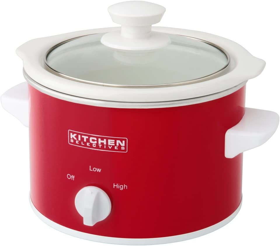 Kitchen Selectives Slow Cooker, 1.5-Quart, Red