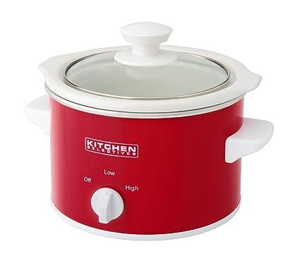 amazon com kitchen selectives slow cooker 1 5 quart red kitchen rh amazon com Quart Slow Cooker Slow Cooker Kitchen Selectives Colors