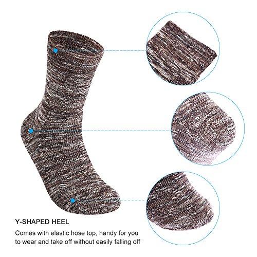 En Coton Chaud Couleur Chaussette Épaissie Hiver Confortables Vbiger Deux 5 Paires Hommes xnYaAwU