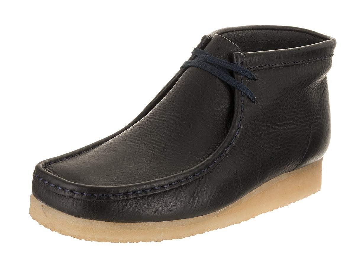 Navy Clarks Originals Wallabee Stiefel